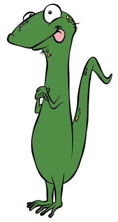 Crazy Cartoon-Lizard  Standard-Bild - 6460239