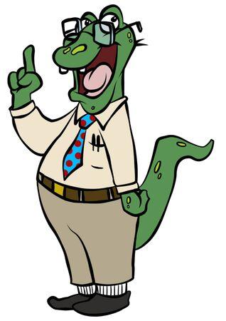 Nerdy Alligator
