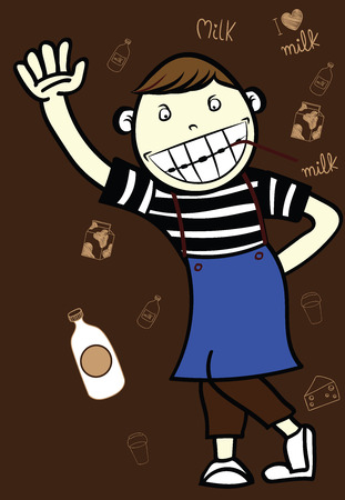 charactor: charactor food and drinks Illustration