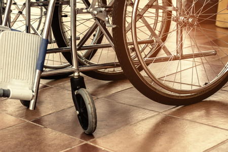 Wheelchair for the disabled and the sick. 免版税图像