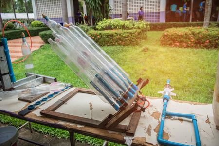 Water bottle rocket for used to study science.