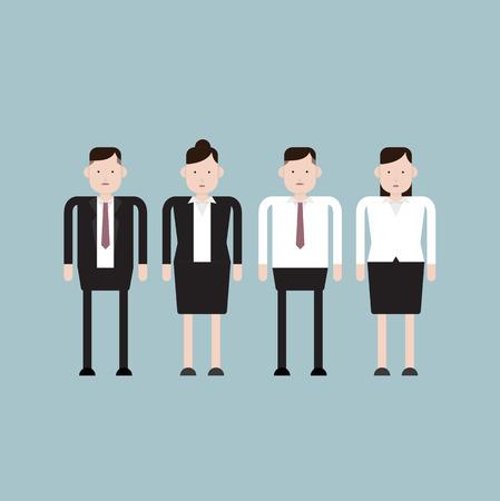 formal shirt: Staff Uniform Sample Illustration