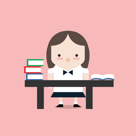 study table: Learning time Illustration