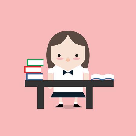 femal: Learning time Illustration