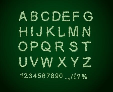 Money font. Letter from dollar. Alphabet of money. The font of dollars. Vector illustration Vector