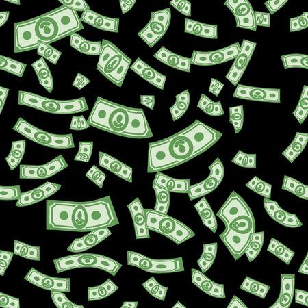 stack of cash: Patrones Dinero transparente, fondo de dinero de d�lares Vectores