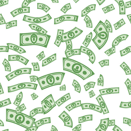 cartoon money: Money patterns seamless, money background from dollars