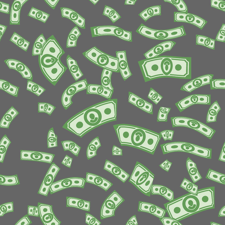 Money patterns seamless, money background from dollars