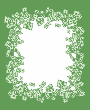 money frame, vector money background Vector
