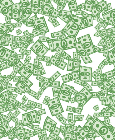 Money pattern. Money background from dollars Illustration