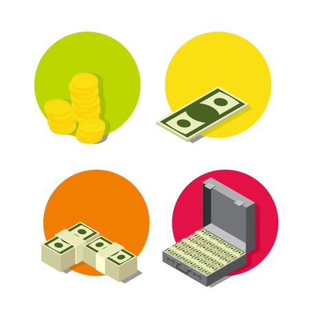 set of money: set money icon. Business and banking icon set