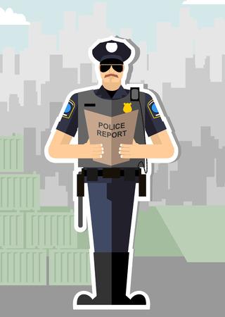 総立ちの拍手喝采のレポートと警察。警察官が逮捕されました。