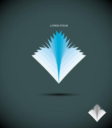 buchhandlung: icon Buch. Zusammenfassung Symbol Heftchenbl�tter. Das Konzept f�r die Bibliothek, Buchhandlung. Vektor-Illustration