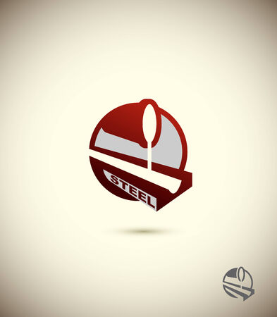 steel factory: icon of the steel industry. Concept design for the factory, the factory. Corporate vector icon design