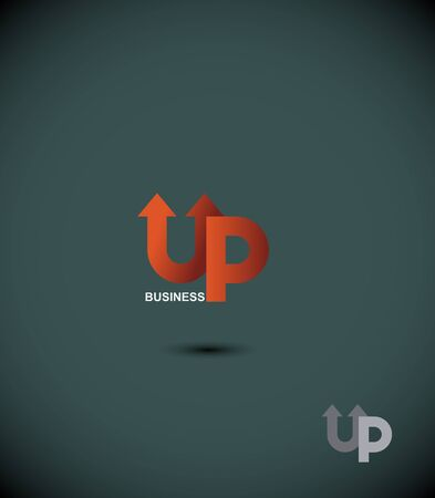 eminence: icon business up. Up arrow. The Eminence. Concept template for business. Vector  illustration Illustration