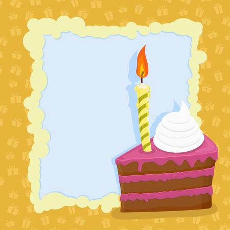 funny birthday: Cartoon funny  Birthday cake. Vector illustration.