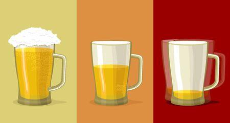 ivresse: Tasse de bi�re. �tapes d'intoxication alcoolique