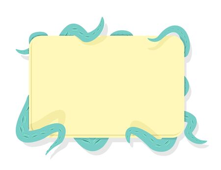tentacles  Octopus hold frame for text. Vector illustration Vector