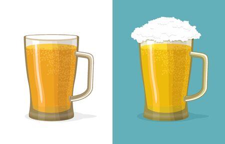 Mug of beer vector illustration Vector