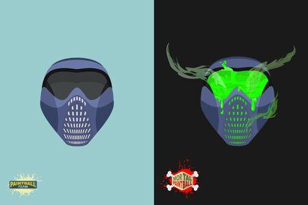 mortal danger: paintball  Mortal mask.