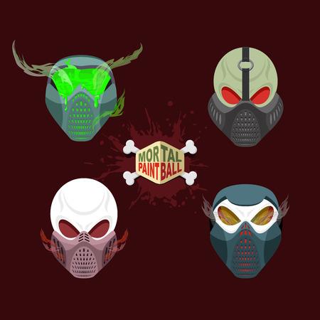 battle evil: set paintball evil  mask. skull Mortal paintball