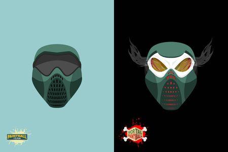 sterbliche: Paintball Mortal Maske. Illustration