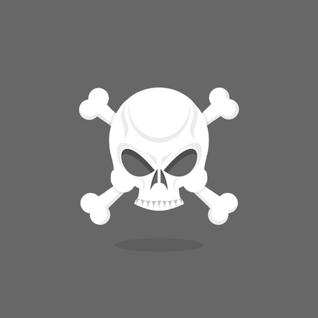 roger: Jolly Roger. Skull and bones. pirate vector flag