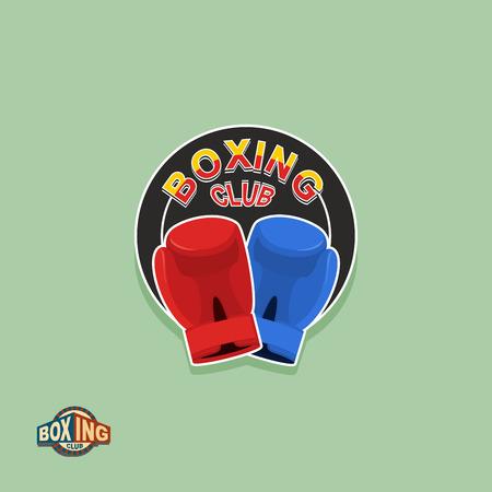 Boxing emblem. Logo boxing Club. Boxing gloves Vector