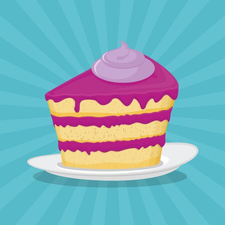 piece of cake: Piece of cake, vector illustration. Icon Illustration