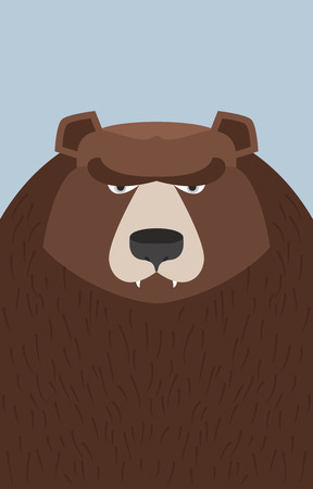 kodiak: big brown bear. Vector illustration