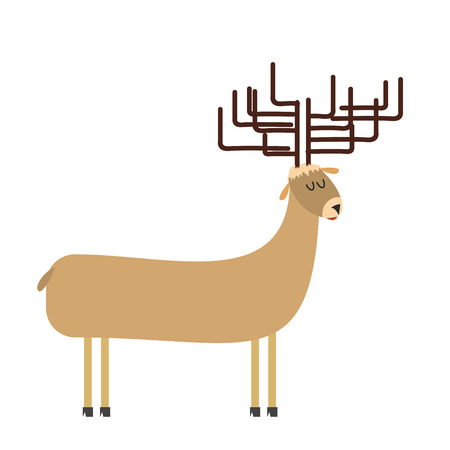 deer cartoon. Vector illustration Vector