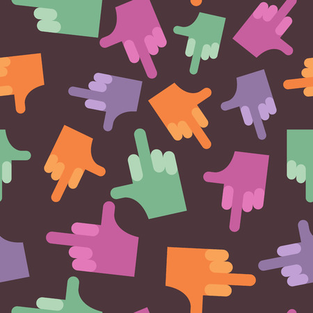 antisocial: fuck seamless pattern. background hands. Vector illustration