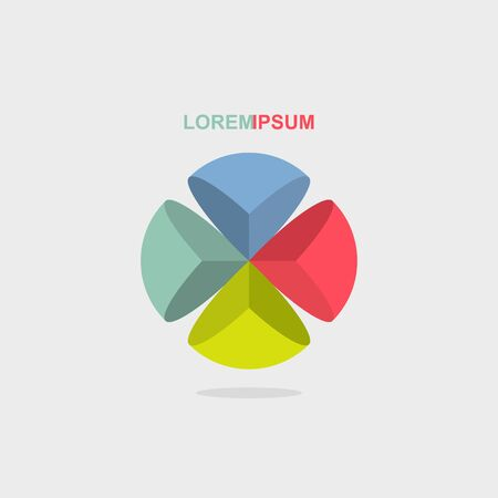 segment:  sphere color segment. Vector illustration Illustration