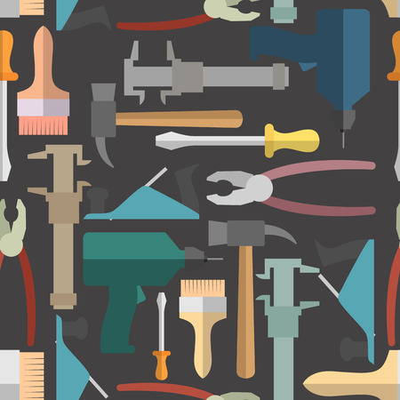 graver: Construction tools seamless Pattern. Vector background