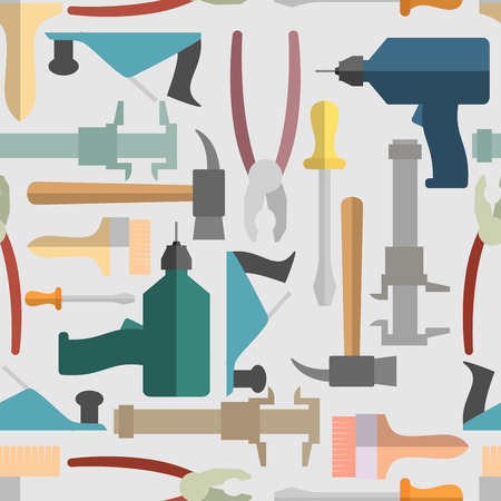 Hand tools seamless Pattern. Vector background Vector