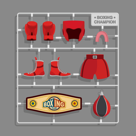 sprue: Boxing champion Plastic model kits.