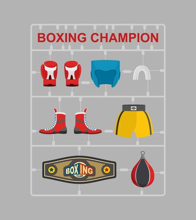 moulding: Boxing champion Plastic model kits. Illustration