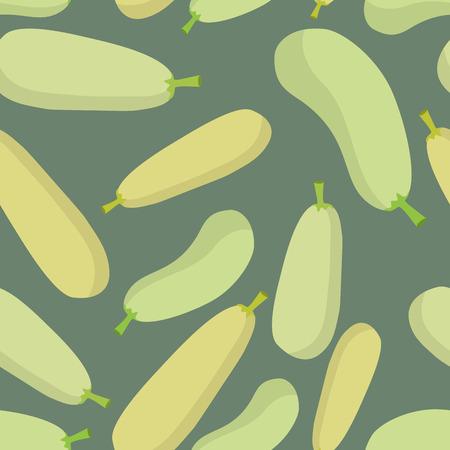 zucchini: Zucchini seamless pattern. Vector background ripe vegetable Zucchini
