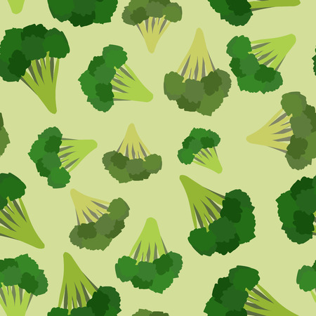 Broccoli seamless pattern. Green broccoli von vector vegetable