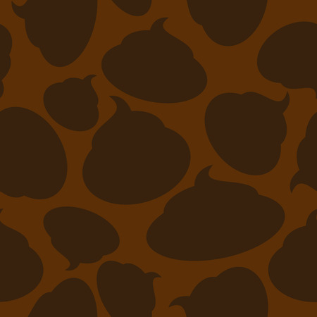shit: Silhouette turd seamless pattern. Vector Brown shit.