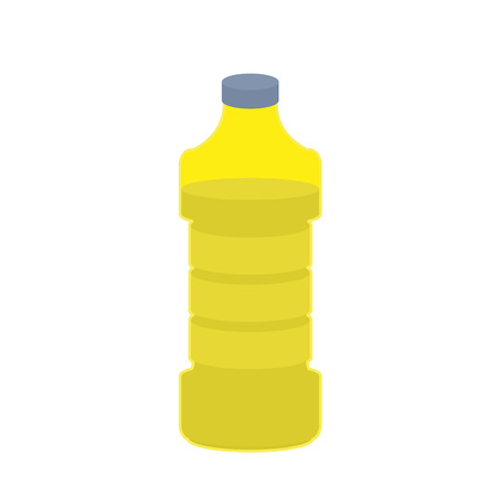 cooking oil: Bottle of oil sunflower on white background. cooking oil food. Vector illustration