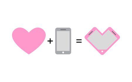 romantics: Love and phone Fantastic concept phone design for lovers and romantics.