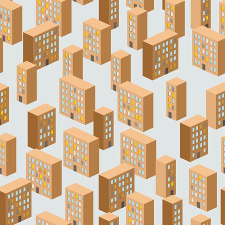 Building seamless pattern.