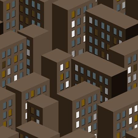 night: Night city seamless pattern.