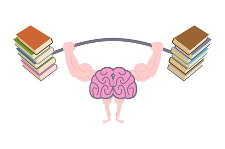 Oppompen hersenen. Stock Illustratie