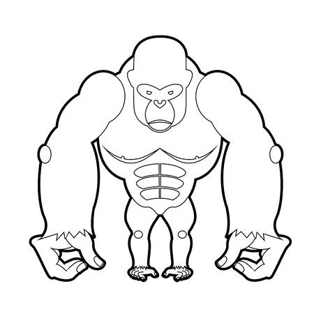 gorila: Big gorilla coloring book.  Illustration