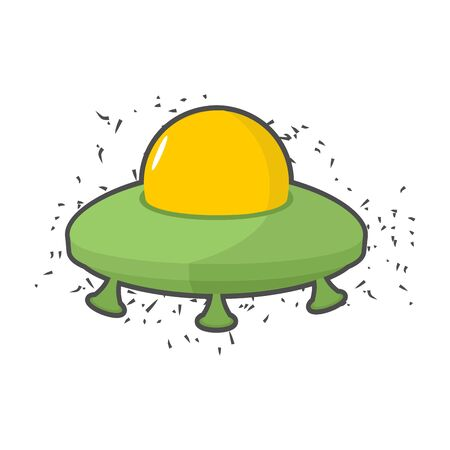 flying saucer: Flying saucer UFO on a white background.