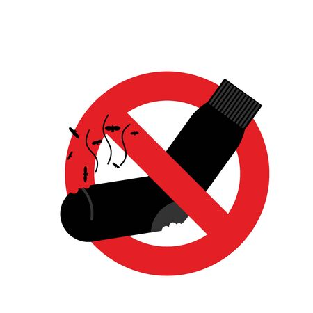 stinking: Ban dirty smelly socks. Mark is prohibited. Vector illustration Illustration