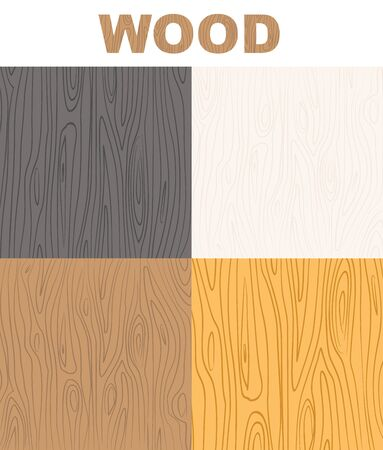 plywood: Set wood textures pattern. Vector  wooden background.