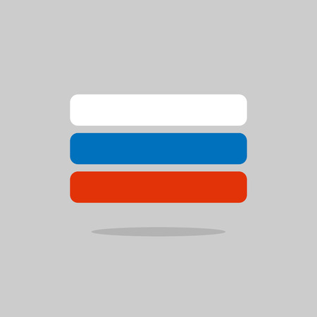 russian flag: Russia flag, stylized Russian Flag of geometrical elements. Vector illustration Illustration